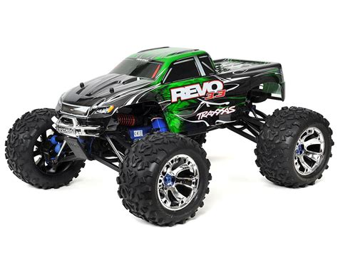 traxxas nitro monster truck revo 3 3 4wd rtr nitro monster truck w tqi green by