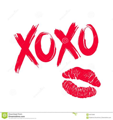 Lipstik Xoxo Xoxo And Lipstick Stock Vector Illustration Of