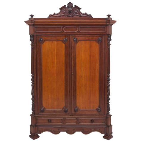 large antique napoleon iii armoire in mahogany