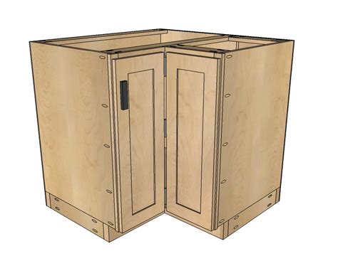 Ana white 36 quot corner base easy reach kitchen cabinet basic model diy projects