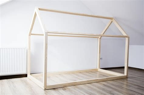 bed house frame scandi design for kids without base
