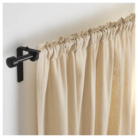 curtain rods ikea r 196 cka curtain rod black 120 210 cm ikea