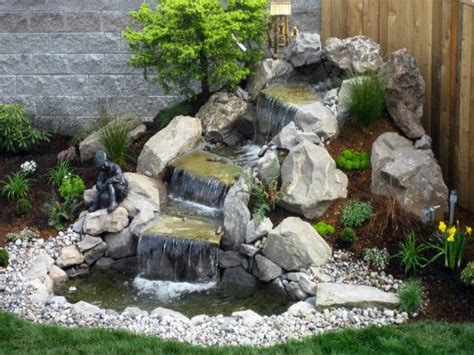 small waterfalls backyard small garden waterfalls prefab waterfalls small backyard