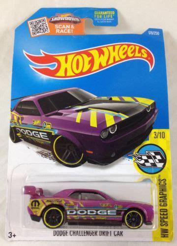 Hotwheels Dodge Challenger Drift Car B 95 wheels dodge challenger drift car purple 3 10 hw speed graphics 2016 e what s it worth