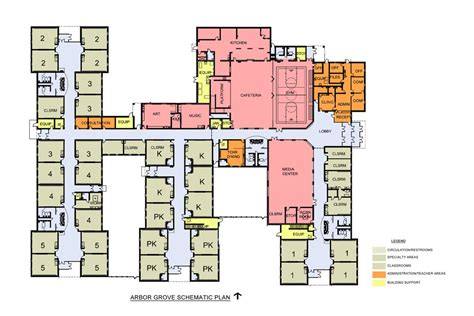 school building floor plan arbor grove elementary construction