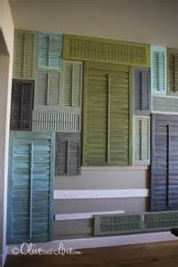 Shutter Wall Decor by Olive And 187 Shutter Wall Attaching Shutters Part 2