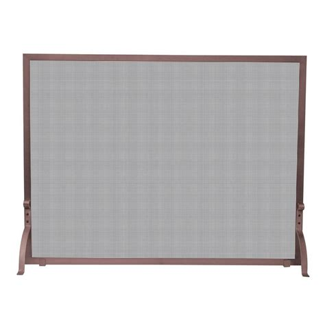 Copper Fireplace Screen Uniflame Antique Copper Single Panel Fireplace Screen S