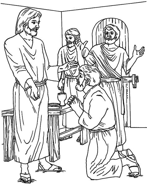 coloring page for doubting thomas charming doubting thomas coloring page ideas resume