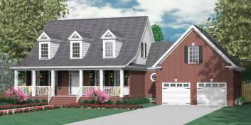 Front Porches On Colonial Homes houseplans biz one and one half story house plans page 4