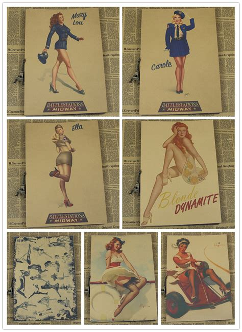 home decor vintage classic pin up poster retro