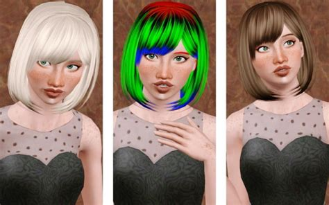 sims 2 short curled bob the sims 3 classical bob with bangs hairstyle zauma