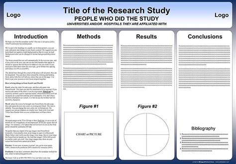 Research For Biology Faculty Template Free Powerpoint Scientific Research Poster Templates For