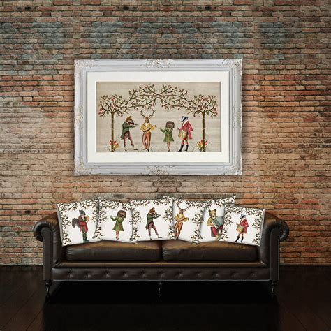 woodland home decor the woodland minstrels by fabfunky home decor