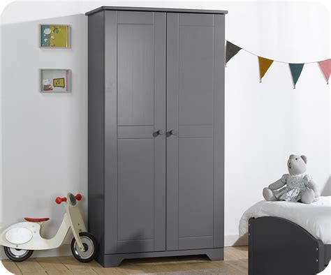 armoire enfant nature anthracite