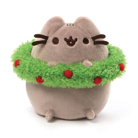 gund pusheen wreath 4 5 inches natures