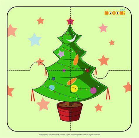 christmas tree 2 jigzaw puzzles for kids mocomi