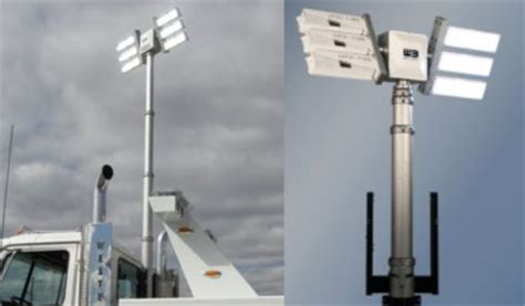 night scan light tower heavy duty towing light tower vertically mounted dual