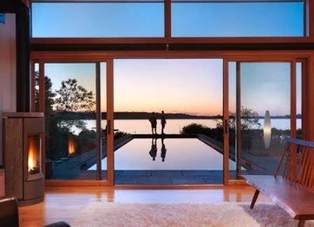 desain pintu geser kaca rumah modern contoh disain rumah