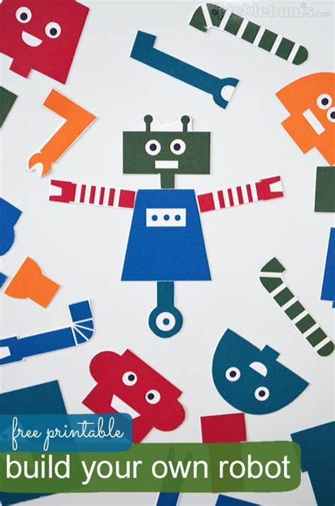 printable paper robot build your own robot free printable fab n free