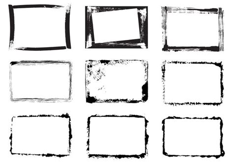 cornici psd grunge frame brushes and psd pack free photoshop brushes