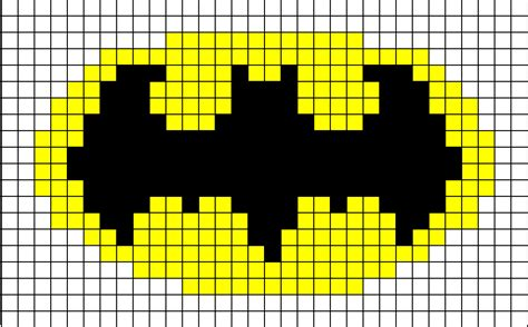 batman knitting chart pixel batman symbol