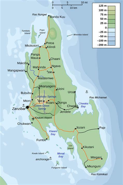 printable map of zanzibar zanzibar map large zanzibar island maps for free download