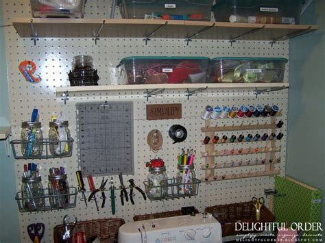 Sewing Room Pegboard Ideas by Peg Board For Craft Room Great Idea