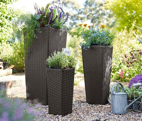 patio flower pots patio and balcony planter ideas