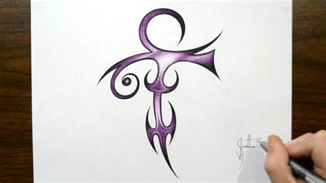 how to make a tribal tattoo how to draw prince symbol tribal design style