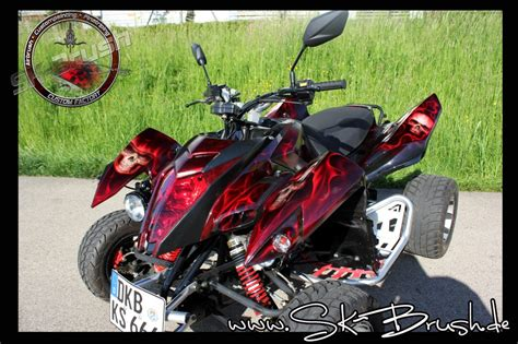Quad Motorradteile by Quad Grim Reaper Airbrush Candy Red Custompaint Airbrush