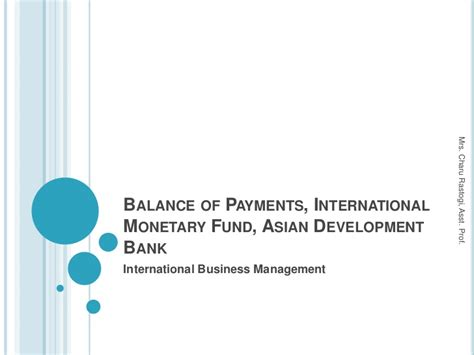 what is development bank 4 balance of payments international monetary fund asian