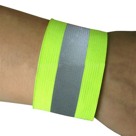 2pcs safety reflective arm band belt outdoor sports