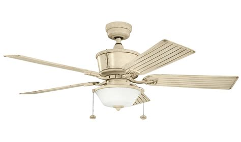 kichler outdoor ceiling fans kichler 300162aw aged white cates 52 quot outdoor ceiling fan