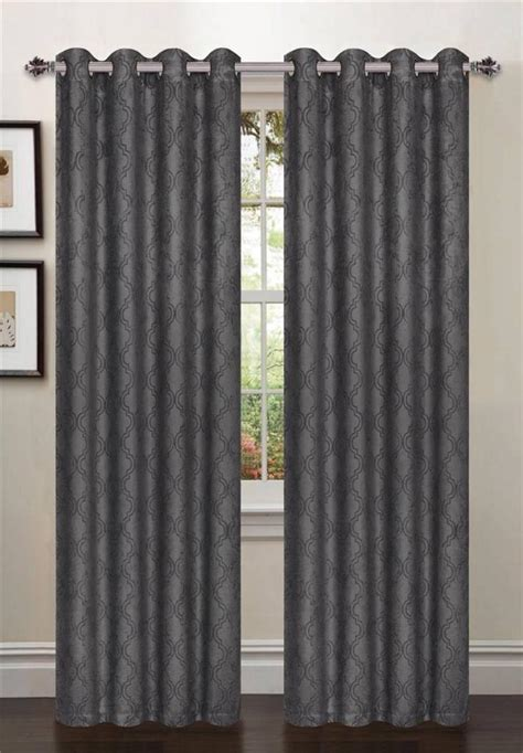 1 Pcpatterned Blackout Curtains 54 Quot W X 84 Quot L Taupe