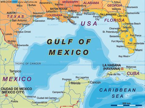 Mexico Search For Map Of Gulf Of Mexico Region In Mexico Usa Welt Atlas De