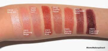 maybelline color swatches maybelline the buffs by color sensational lipsticks