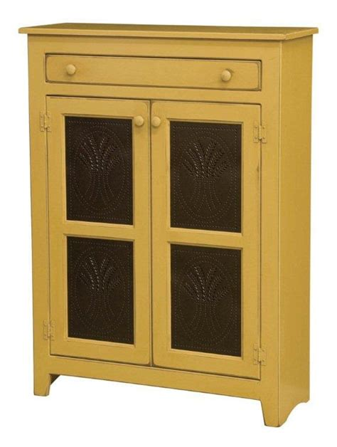 Standard Width Of Kitchen Cabinets by Amish Large Pine Wood Pie Safe With Tin Doors