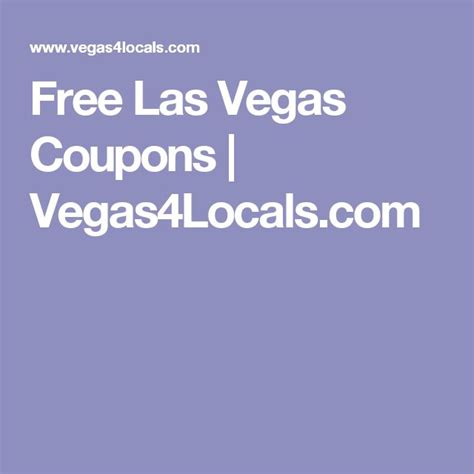 1000 ideas about las vegas coupons on pinterest las