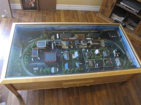 n scale coffee table coffee table model railway layout look here coffee