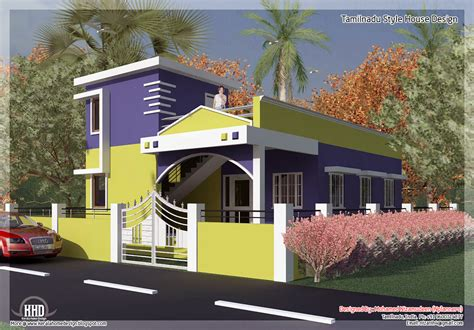 Single Floor House Plans In Tamilnadu | 875 sq feet 2 bedroom single floor home design a taste