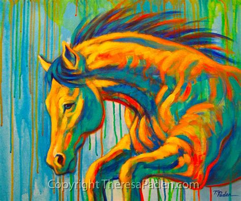 colors painting wildlife art of the west wild horse painting in wild