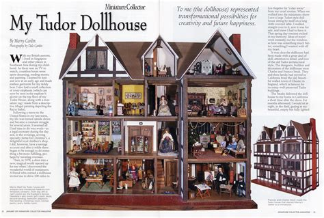 doll house magazine pin custom designed english tudor dollhouses on pinterest
