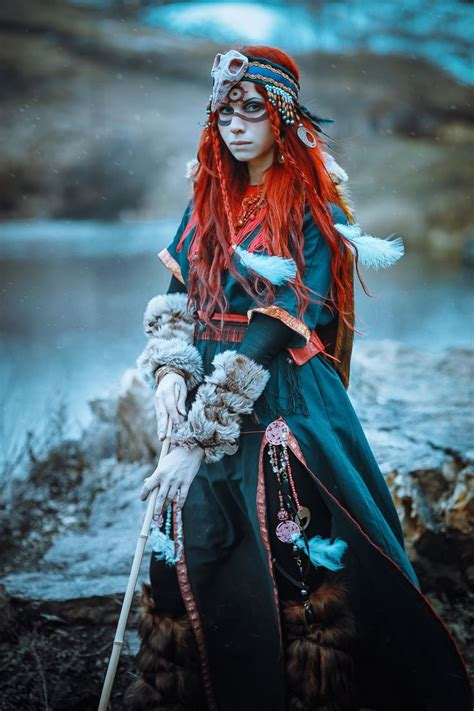 steunk fantasy art fashion shaman elena neriumoleander druid witch female cosplay costume larp armor clothes clothing
