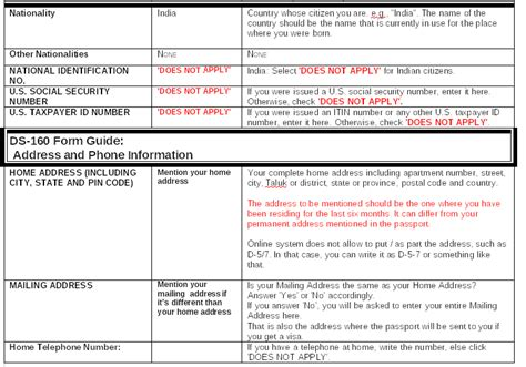 Printable Version Of Ds 160 | ds 160 guidelines printable version