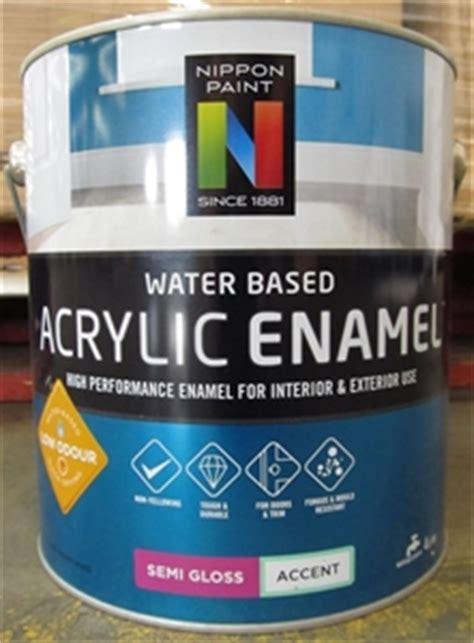 acrylic paint is it water based 4l nippon paint water based acrylic enamel semi gloss