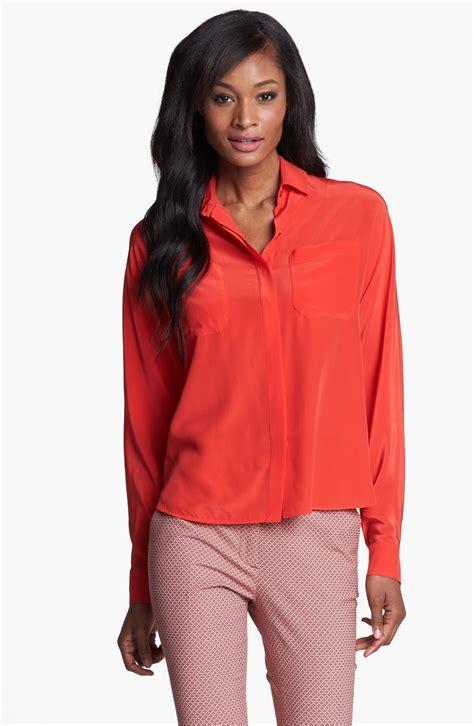 Maxmara Silk Choco weekend by maxmara lino silk shirt in orange lyst