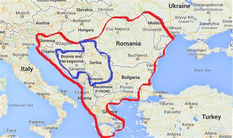 balkans map where are the balkans on a map images