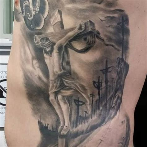 black and grey cross tattoo 52 best jesus tattoos design and ideas