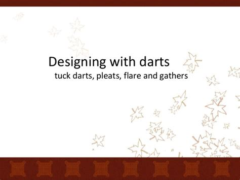 patternmaking for fashion design slideshare designing with darts