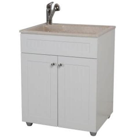 Laundry Sink Cabinet Home Depot by Glacier Bay All In One 27 In Colorpoint Premium Laundry
